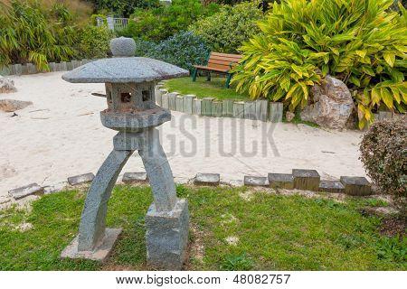 Japanese garden at the Bermuda Botanical Gardens in Hamilton, Bermuda. Known as the Zen Garden.