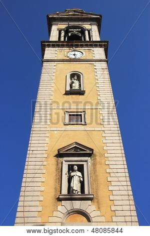 Bell tower in Castelletto Sopra Ticino Italy poster