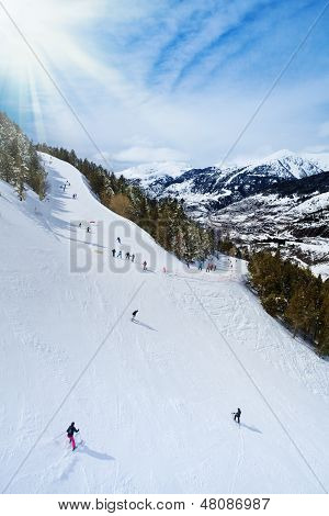 Ski Mountain Slopes