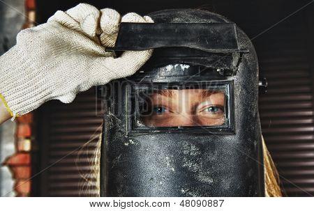 Woman in Welder