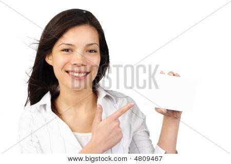 Blank Card Woman