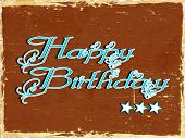 Happy Birthday text on abstract vintage background. poster