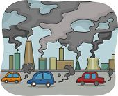 Illustration of Air Pollution poster