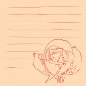 flower illustrated using dots with lines for notes poster