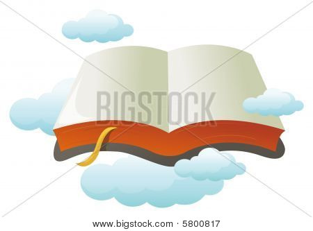 Open Book With Cloud