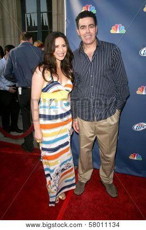 Adam Carolla and Lynette Helen Paradise  At NBC's Fall Premiere Party. Boulevard 3, Hollywood, CA. 09-18-08