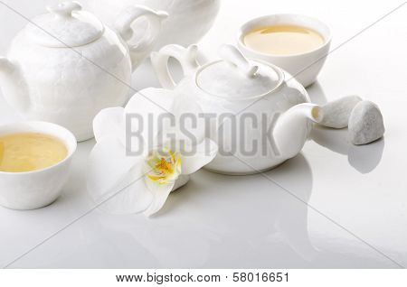 White tea still life