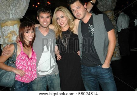 Amy Paffrath, Drew Seeley, Jennifer Leeser, Brandon Slavinski  at the Birthday Party for Jennifer Leeser. Medusa Lounge, Los Angeles, CA. 09-25-08