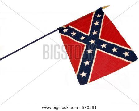 Confederate Flan On A Pole