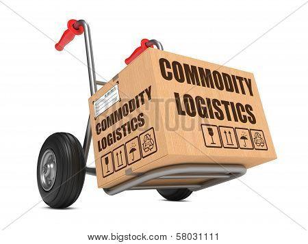 Commodity Logistics - Cardboard Box on Hand Truck.