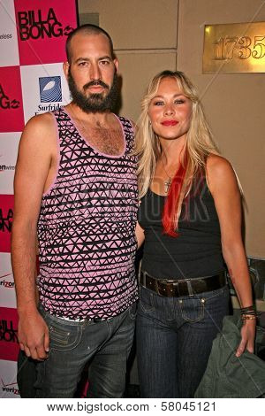 Sanoe Lake and husband Michael  at the 2nd Annual Design for Humanity Event. Spider Club, Hollywood, CA. 06-04-08