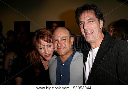 Jenny Mcshane with Kyle T. Heffner and Robin Thomas  at the party celebrating the opening night of the play