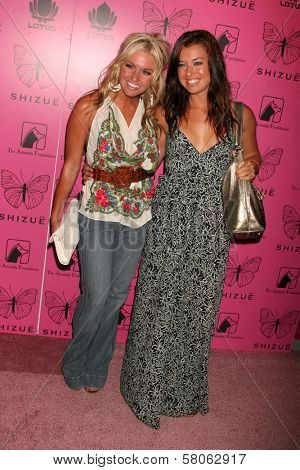Lauren Bergfeld and Parvaty Shallow Dave Edwards/DailyCeleb.com 818-249-499 at the Grand Opening of Shizue Boutique. Shizue, Beverly Hills, CA. 06-26-08
