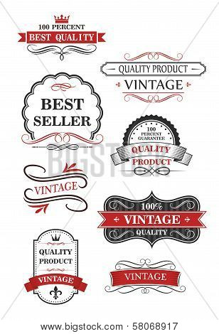 Collection of vintage wine labels