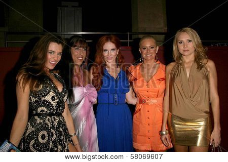 L-R Alicia Arden, DeeDee Bigelow, Phoebe Price, Katie Lohmann and Alana Curry  at the Preview Screening of