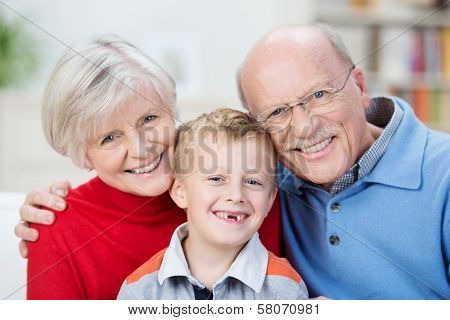 Beautiful Family Portrait Showing The Generations
