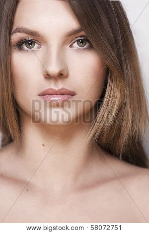 Young girl with healthy skin