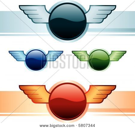 Wings Buttons