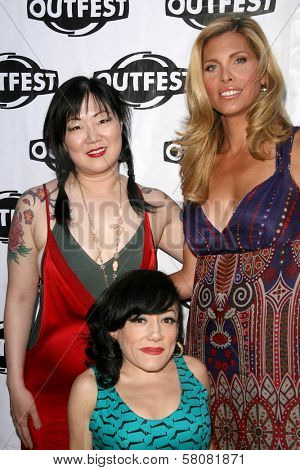 Margaret Cho with Selene Luna and Candis Cayne  at the Premiere Screening of