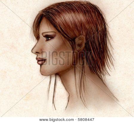 Girl Sketched