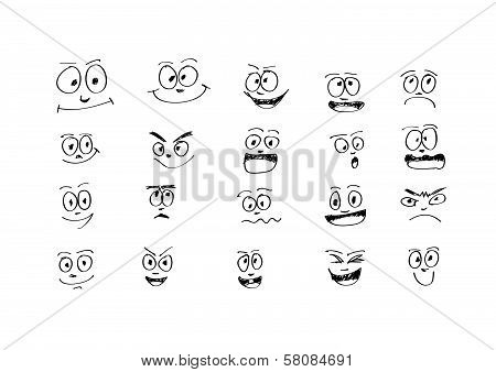 an images of Design Set cartoon faces