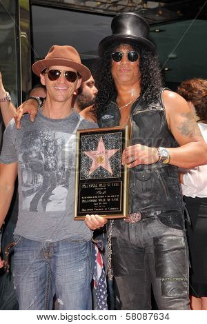 Clifton Collins Jr. and Slash at Slash Honored with a Star on the Hollywood Walk of Fame, Hollywood, CA 07-10-12