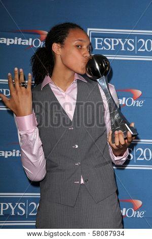 Brittney Griner Olivia Munn at the 2012 ESPY Awards Press Room, Nokia Theatre, Los Angeles, CA 07-11-12
