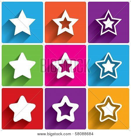 Star icons. Rating stars symbols. Feedback rating.