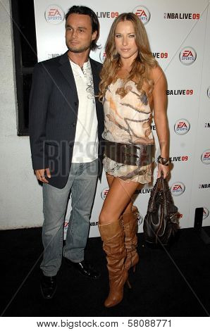 Alec Mazo and Edyta Sliwinska  at the Launch Party for NBA Live 09. Beso, Hollywood, CA. 09-26-08