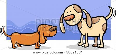 Dogs Wagging Tails Cartoon