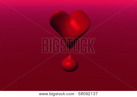 Twisted Heart And Blood Drop