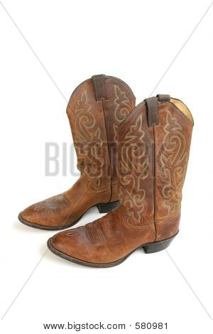 Cowboy Boots Isolated On White