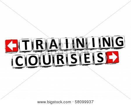 3D  Training Courses Button Click Here Block Text