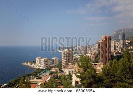 Monaco Montecarlo Cityscape, Principality Aerial View