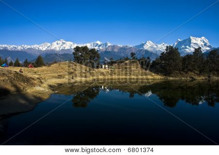 Reflections in Deoria Tal (Lake)