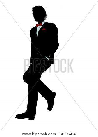 Man In A Tuxedo Silhouette