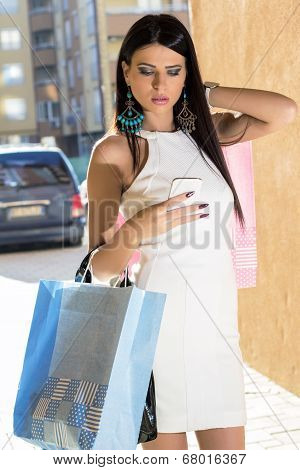 Shopping Woman With Phone