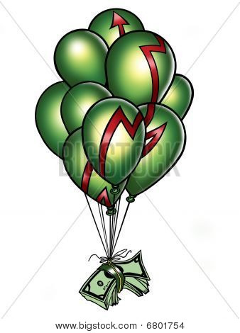 Money balloon; Art done by me