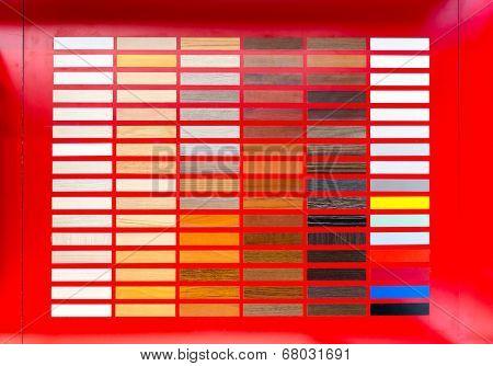 Flooring rubber clorful palette poster