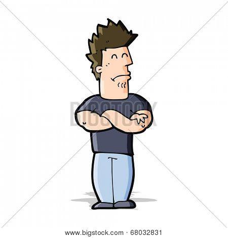 cartoon sulking man