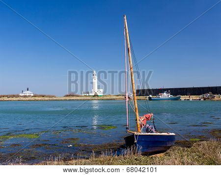 Boat At Hurst Spit Hampshire