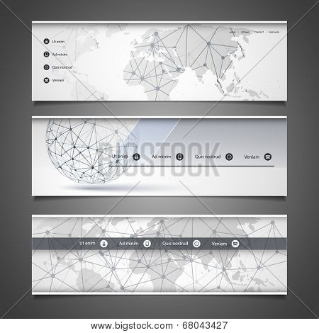 Web Design Elements - Header Design - Networks