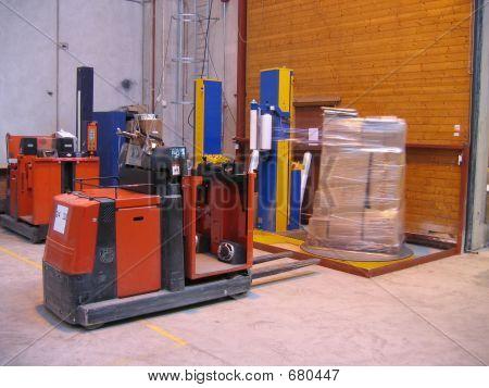 Truck At Packing Machine