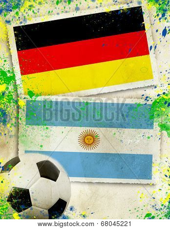 Germany vs Argentina soccer ball concept - final