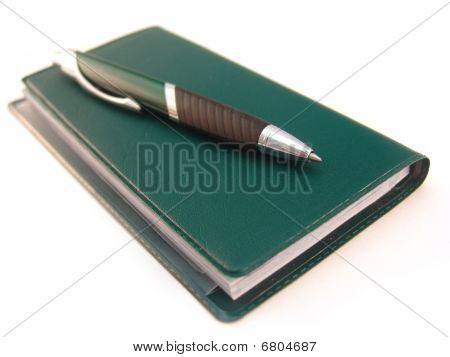 Check Book With Pen