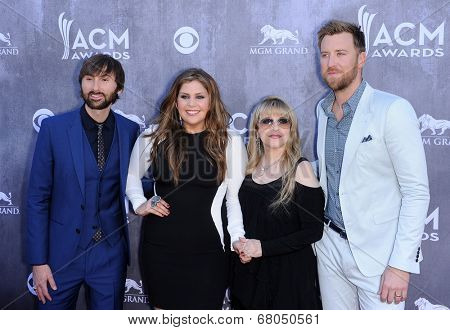 LOS ANGELES - APR 06:  Lady Antebellum & Stevie Nicks arrives to the 49th Annual Academy of Country Music Awards   on April 06, 2014 in Las Vegas, NV.