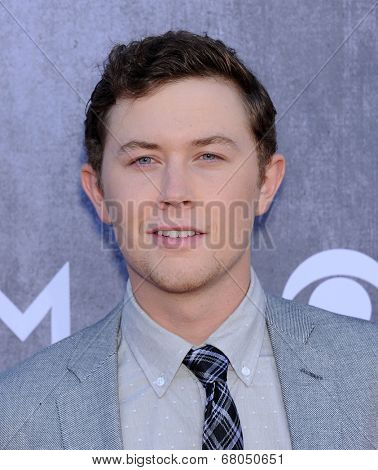 LOS ANGELES - APR 06:  Scotty McCreery arrives to the 49th Annual Academy of Country Music Awards   on April 06, 2014 in Las Vegas, NV.