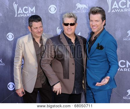 LOS ANGELES - APR 06:  Rascal Flatts arrives to the 49th Annual Academy of Country Music Awards   on April 06, 2014 in Las Vegas, NV.