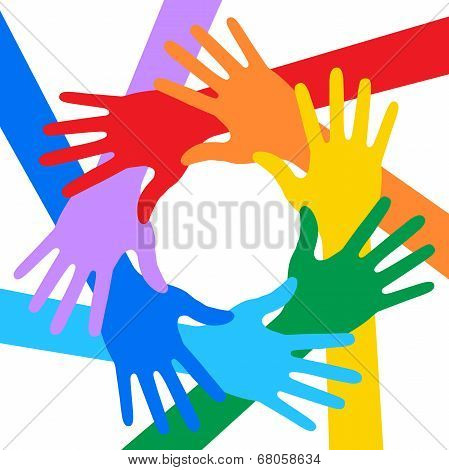Rainbow Colors Hands Icon