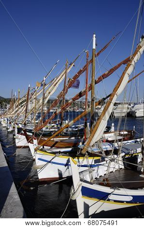 Wooden Boat Pointus In Bandol